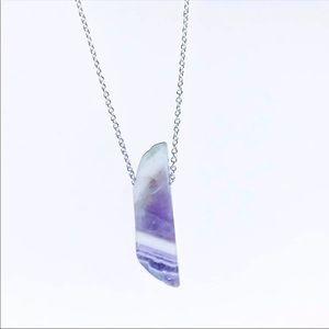 ⚡️❗️925 Chevron Amethyst Crystal Necklace